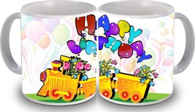 Print Hello Happy Birthday Set of Two Cake 168 Ceramic Mug
