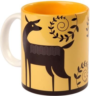 Studio Pandora Yellow Deer Coffee Ceramic Mug
