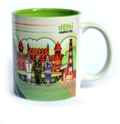 Indiavibes Coffee & Tea Delhi Theme Printed Ceramic Ceramic Mug