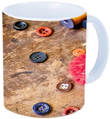 Rawkart Buttons print Ceramic Mug