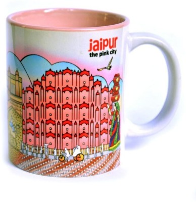 Indiavibes Coffee & Tea Jaipur Theme Printed Ceramic Ceramic Mug