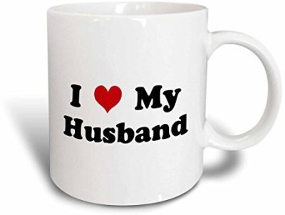 3dRose I Love My Husband , 11-Ounce Ceramic Mug