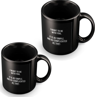posterchacha I Want To Be With You As Simple As That Black Tea And Coffee for Gift Use For Girlfriend And Loved One Ceramic Mug