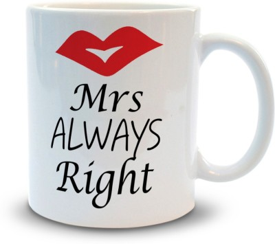 Shoppers Bucket Mrs Right Ceramic Mug