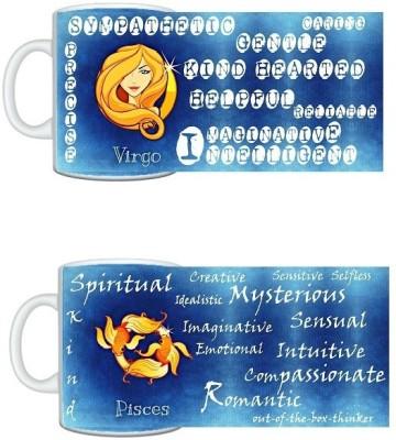 CreativesKart Zodiac Virgo (M) Pisces (F) Compatibility  Ceramic Mug