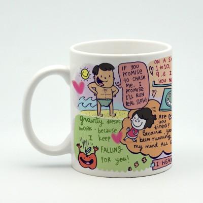 Alicia Souza I heart you Porcelain Mug