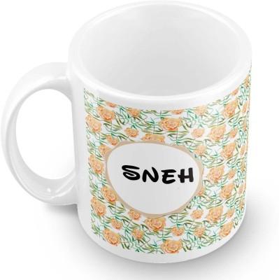 posterchacha Sneh Floral Design Name  Ceramic Mug