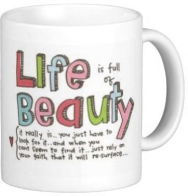 Hainaworld Life is Beauty Coffee  Ceramic Mug