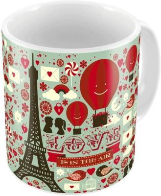 Indiangiftemporium Designer Romantic Color Coffee s Pair 765 Ceramic Mug
