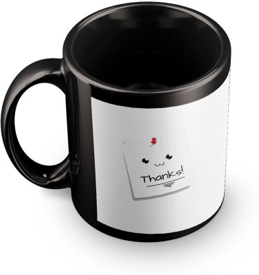 posterchacha Thanks Simple Post It Note Black Tea And Coffee For Gift Use To Loved One Ceramic Mug
