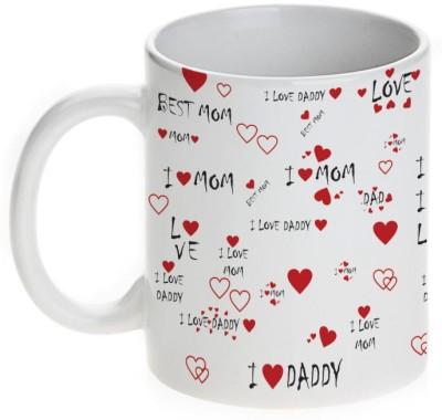Mugwala I Love Mom-Dad Ceramic Mug