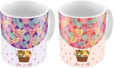 Little India Designer Romantic Print Coffee s Pair 208 Ceramic Mug