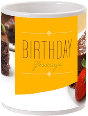 Allthingscustomized Birthday Cake Greetings Cup Ceramic Mug
