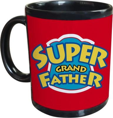 Sajawat Homes Gifts For Super Grand Father Black Coffee Ceramic Mug