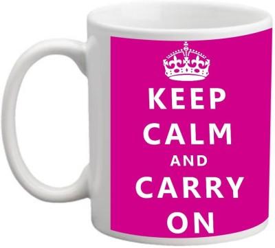 Printocare Keep Calm and Carry On Ceramic Mug
