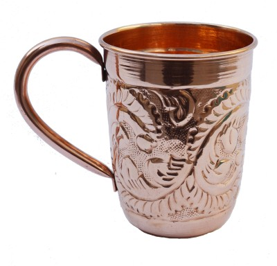 Veda Home & Lifestyle Embossed Copper Mug