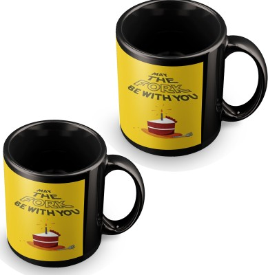 posterchacha May The Fork Be With You Black Tea And Coffee to Give As A Birthday Gift To Loved One Ceramic Mug