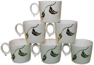 White Gold Leaf Ceramic Mug