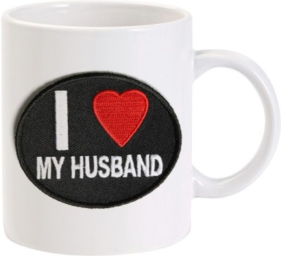 Lolprint I Love my Husband Embroidery Ceramic Mug