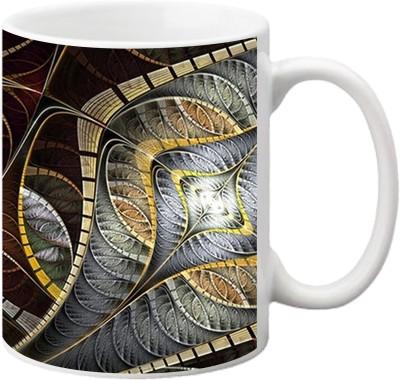 ezyPRNT Leaf pattern art Ceramic Mug