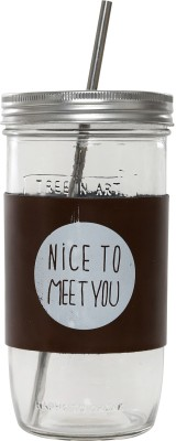 Serenus Homes Nice To Meet You Glass Mug