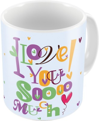 Home India Color Romantic Printed Coffee s Pair 764 Ceramic Mug
