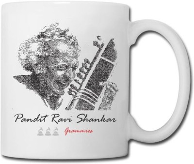 Raga Creations Pt. Ravi Shankar Theme  Ceramic Mug