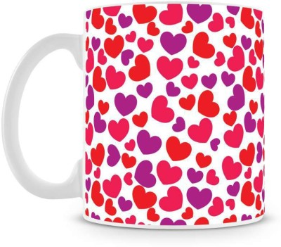 Saledart Mg939-Beautifull Heart And Colour Full Background Ceramic Mug