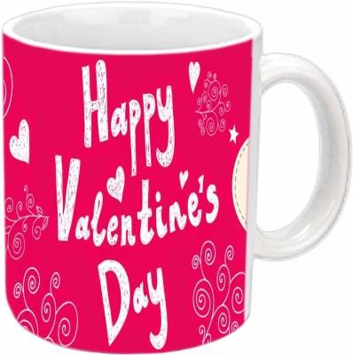 Jiya Creation Happy Valentines Day White  Ceramic Mug