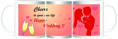 Refeel Gifts Happy Wedding - Cheers To Your New Life Ceramic Mug