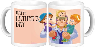 Shopmillions Daddy With Cute Babies Ceramic Mug