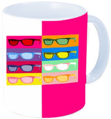 Rawkart glasses print Ceramic Mug