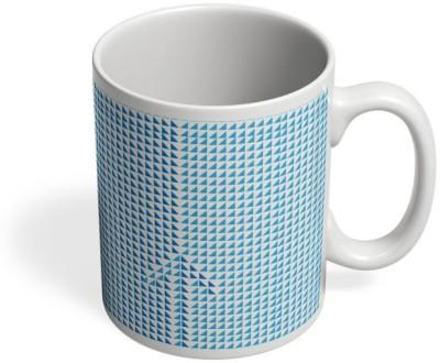 PosterGuy Arrow Up Arrow, Growth, Pattern, Growth Pattern, Arrow Pattern, Triangle Pattern, Blue Pattern, Ceramic Mug