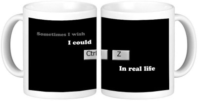 Shopmillions Ctrl Z In Life Ceramic Mug