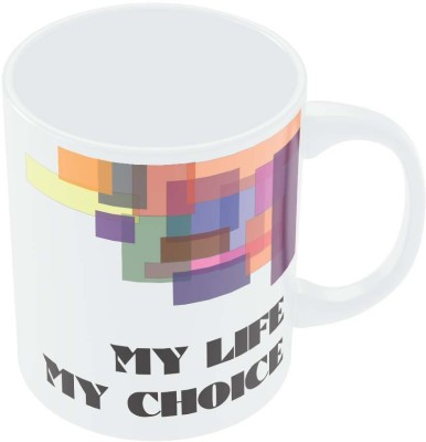 PosterGuy My Life, My Choice Abstract Play Motivational Ceramic Mug
