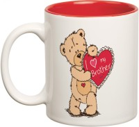Prithish Best Brother Ever Double Color Ceramic Mug(330 ml)