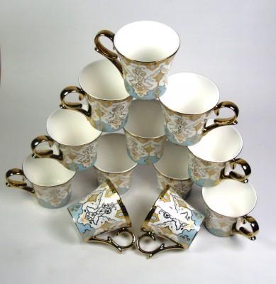 Clay Craft CP/ Ebony Ocean gold print Bone China Mug