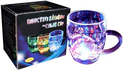 pragati Inductive Rainbow Lighting Glass  Plastic Mug