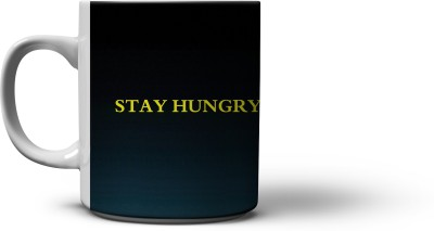 The Nodding Head 300ml Blue Stay Hungry Stay Foolish - Steve  Ceramic Mug