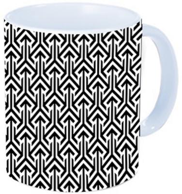 Rawkart Tribal black white pattern Ceramic Mug