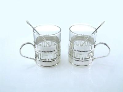 Ekaani EKN644 Glass, Silver Mug