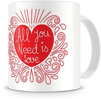 Print Haat All U Need Is Love Ceramic Mug