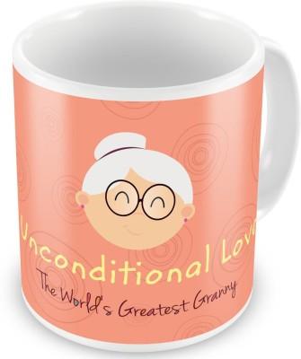Indian Gift Emporium Unconditional Love Printed Coffee  For Grandma 508 Ceramic Mug