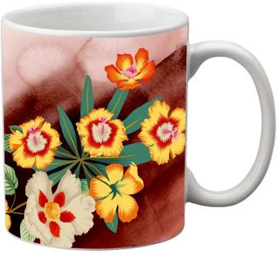Romanshopping Magnificent Flowers  Bone China Mug