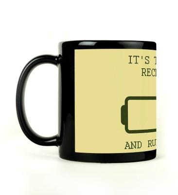 Rockmantra Recharge and Run Again Ceramic Mug