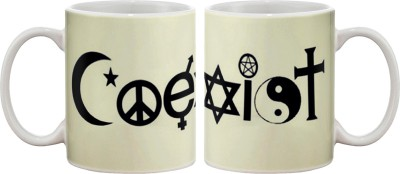 Artifa Coexist Porcelain, Ceramic Mug