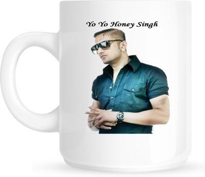 Huppme YO YO Honey Singh White  Ceramic Mug