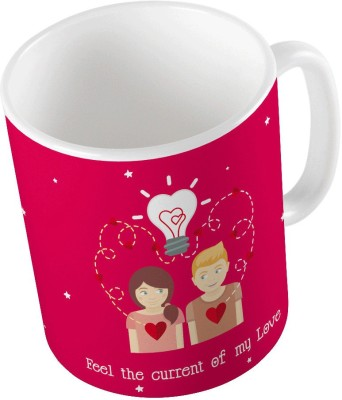 Indiangiftemporium Designer Romantic Printed Coffee  688 Ceramic Mug