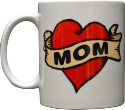 Giftsmate Hot Red Love You Mom Ceramic Mug