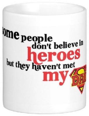 Easyhome My Dad Super Hero Ceramic Mug